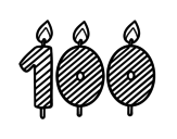 100 years old coloring page