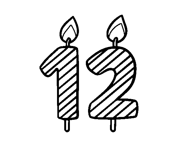12 years old coloring page - Coloringcrew.com