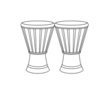 2 Djembes coloring page