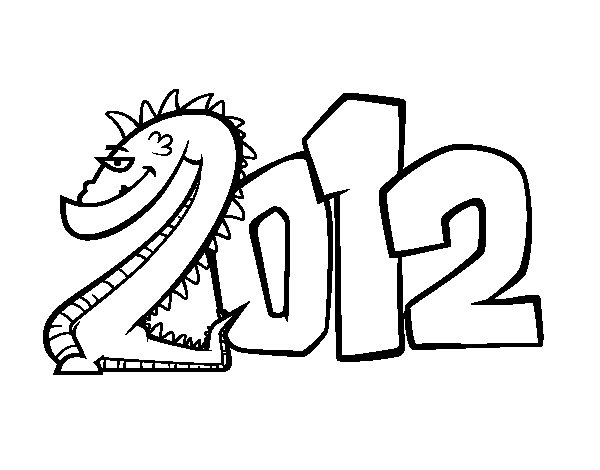 2012 coloring page