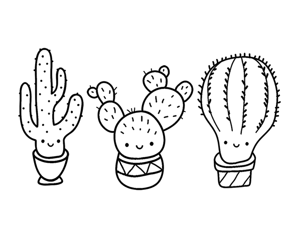 cactus images coloring pages - photo#19