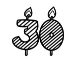 30 years old coloring page