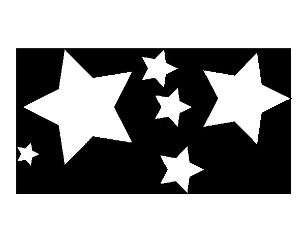6 star coloring page