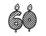 60 years old coloring page