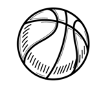 A basketball coloring page