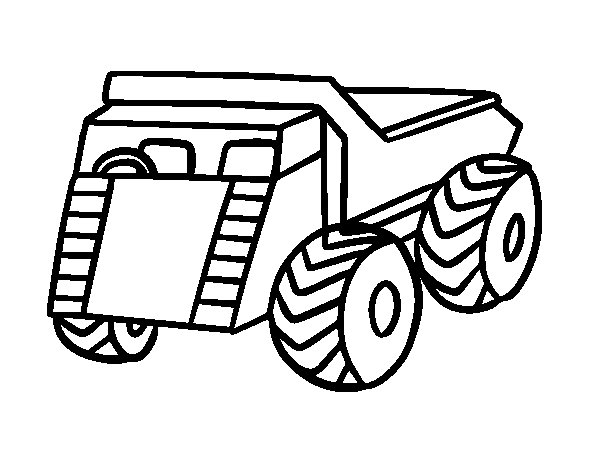 A cargo truck coloring page