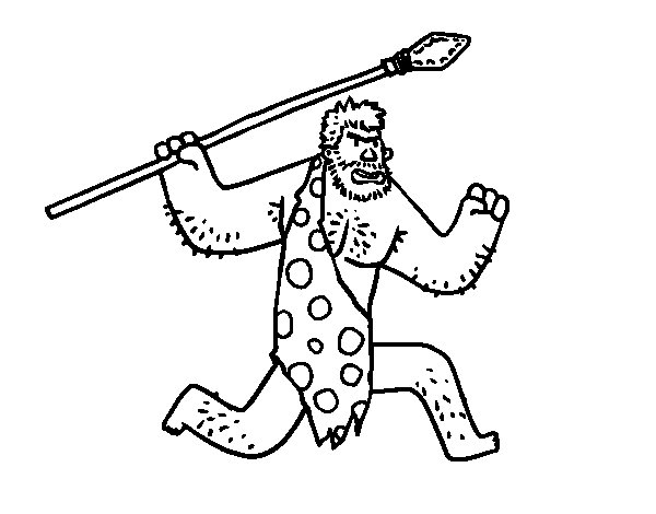 cave man coloring pages - photo#31