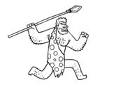 A Caveman coloring page