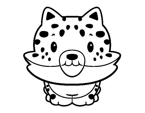 A cheetah cub coloring page