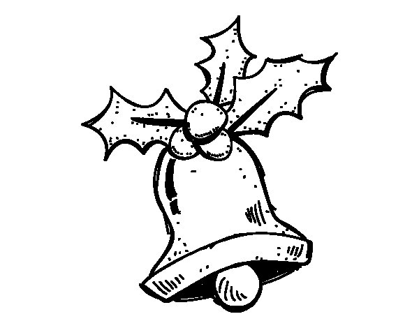A Christmas bell coloring page