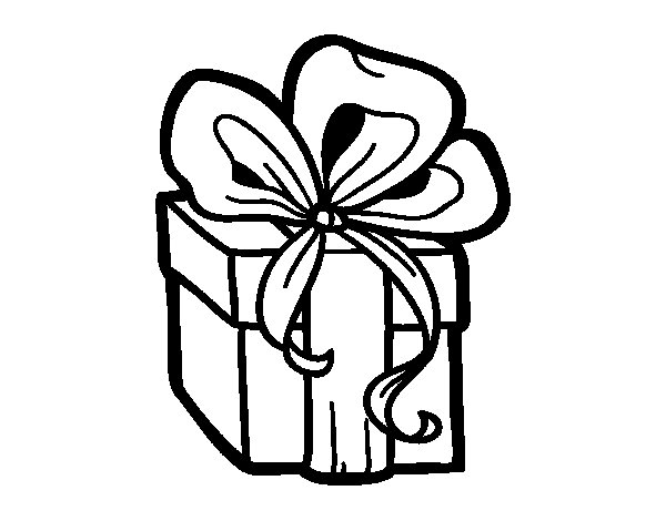 A christmas gift coloring page coloringcrew a christmas gift coloring page negle Images