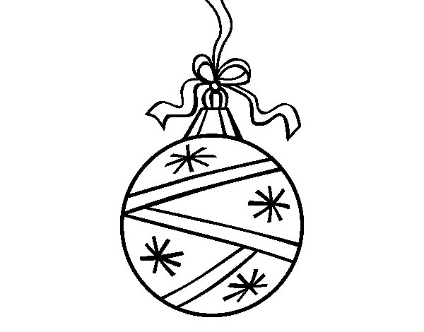 A Christmas round ball coloring page