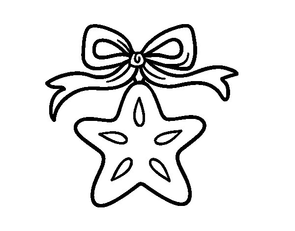 A Christmas star coloring page