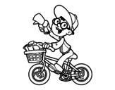 A deliveryman coloring page