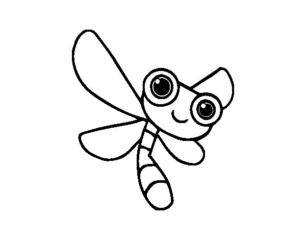A dragonfly coloring page