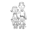 A family coloring page