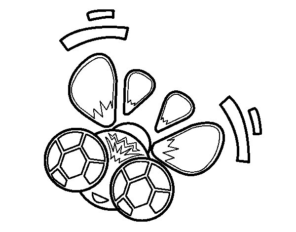 A fly flying coloring page