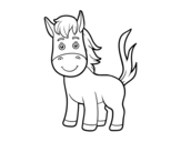 A foal coloring page