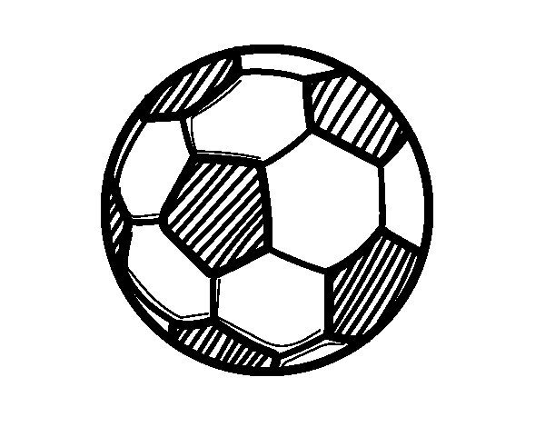A football coloring page