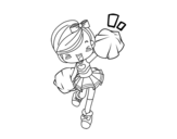A girl Cheerleader coloring page