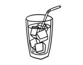 A glass of soda coloring page