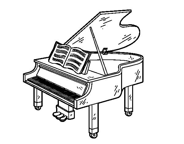 a grand piano open coloring page coloringcrewcom