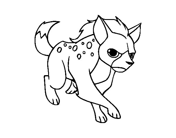 Hyena Coloring Page  Coloring Pages Ideas  Reviews