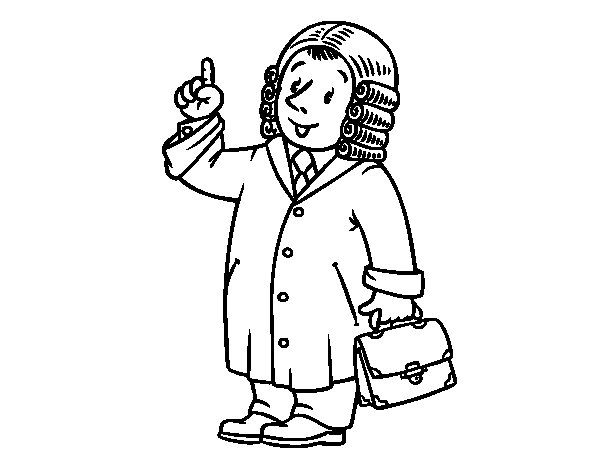 A judge coloring page