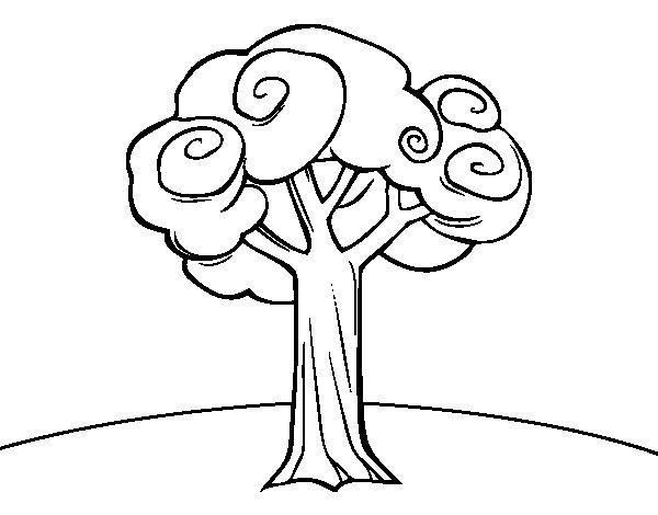 A large tree coloring page