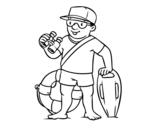 Dibujo de A lifeguard