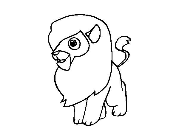 A lion coloring page