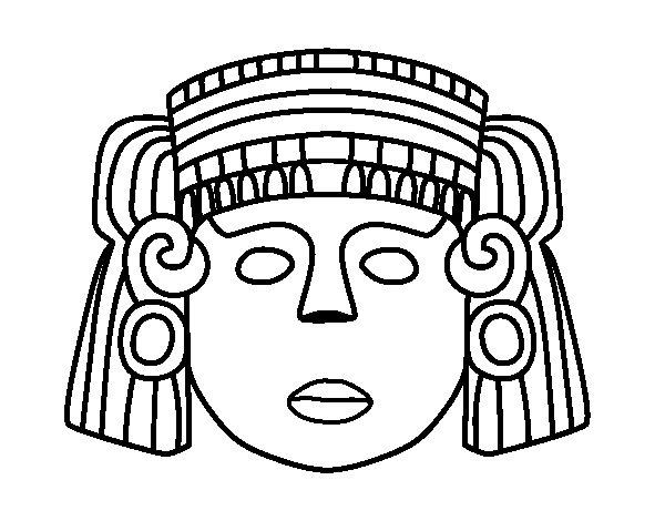 A mexican mask coloring page