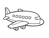 A passenger plane coloring page