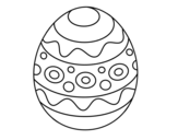A patterned easter egg coloring page