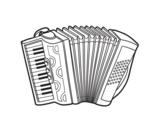 A piano accordion coloring page