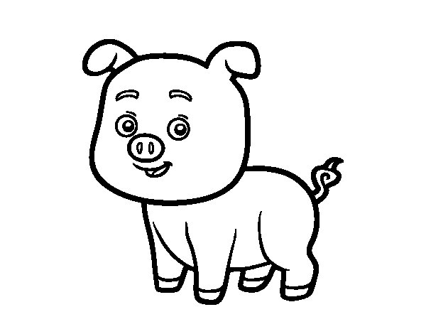 A Piglet coloring page