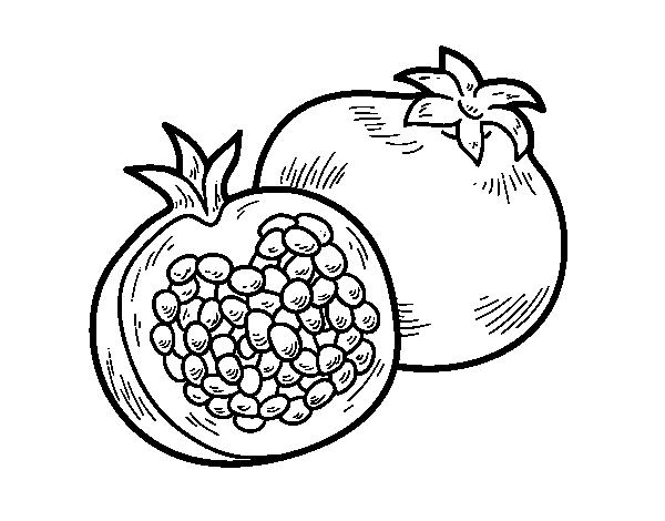 A pomegranate coloring page - Coloringcrew.com