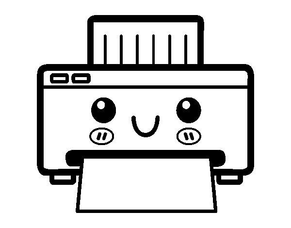 A printer coloring page - Coloringcrew.com