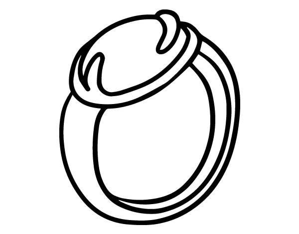 A ring with gemstone coloring page for Gem coloring pages