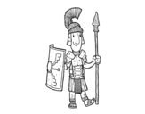 A roman soldier coloring page