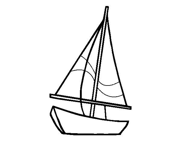 A sailing boat coloring page