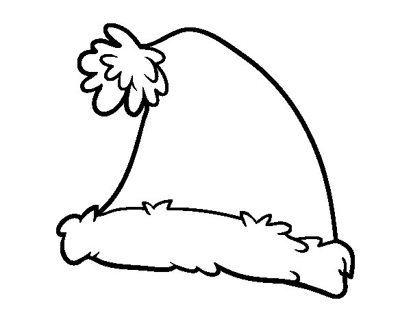 A Santa Claus Christmas hat coloring page