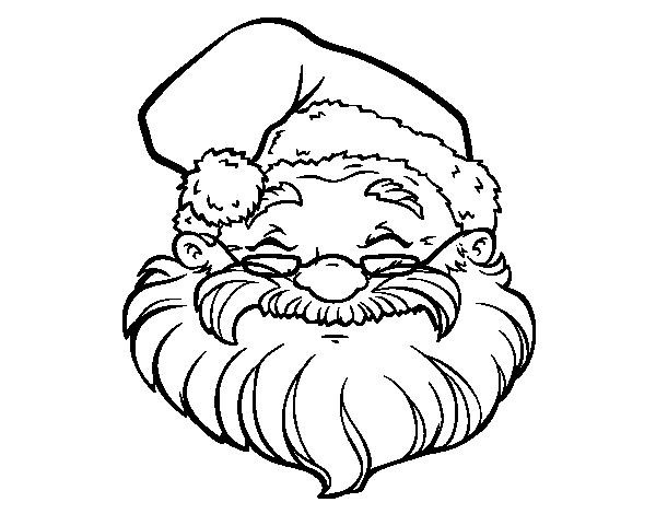 A Santa Claus Face Coloring Page
