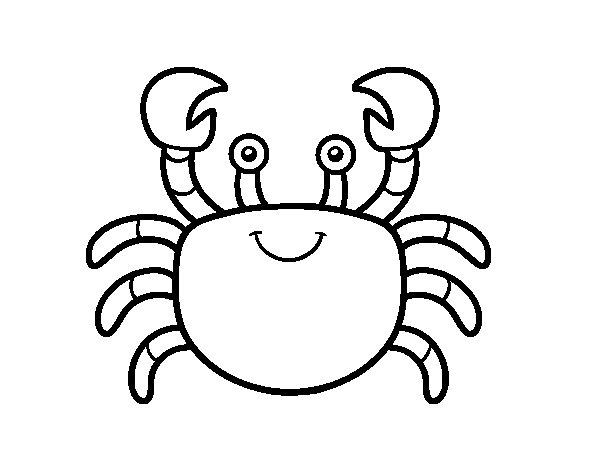 A sea crab coloring page