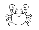 A sea crab coloring page