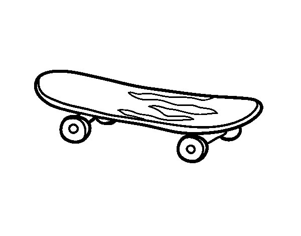 A skate coloring page