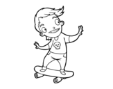 A skater coloring page