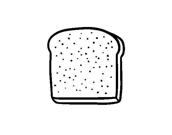 A Slice Of Bread Coloring Page