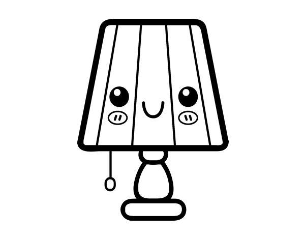 A Table Lamp Coloring Page