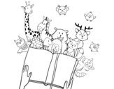 A tale of animals coloring page